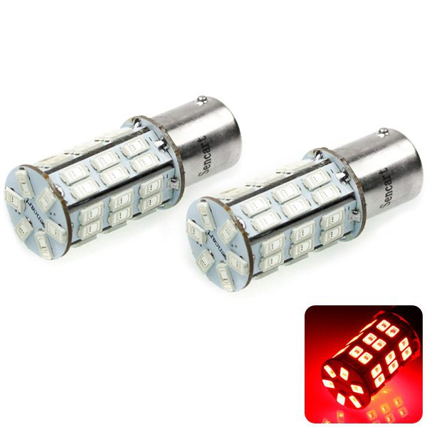 Sencart 1156 5730 42 LEDs 20W 635 - 700nm Red Light Car Brake Lamp DC 12 16V (2 pcs) RED