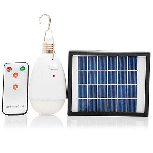 Image For 2W 22 - LED Remote Control Solar Lamp with Mobile USB Charger Camping Outdoor Travel