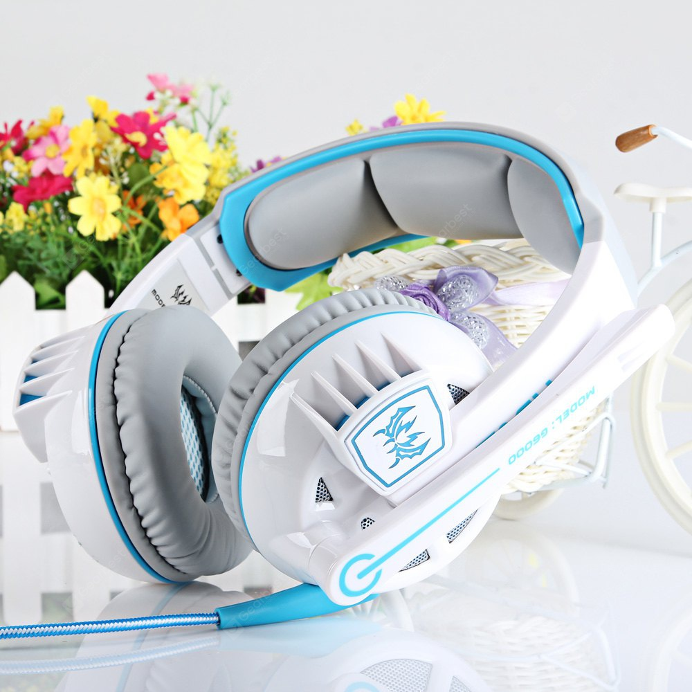 EACH G6000 USB and Audio Jack Dual Input Gaming Headset Stereo Headphone Sound Headset Stretchable B