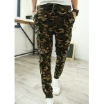 Buy Camouflage Style Lace-Up Slimming Elastic Cuffs Narrow Feet Men's Cotton Blend Harem Long Pants L CAMOUFLAGE