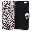 Artificial Leather and Plastic Material Leopard Print Design Cover Case with Card Holder and Stand for iPhone 6 for sale