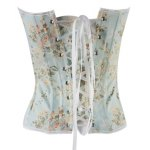 cheap Sexy Strapless Slimming Floral Print Corset For Women