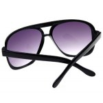 Oulaiou 9827 Retro Sunglasses with UV Prevention and Full - rim Double Beam for Men and Women deal