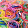 Fashionable 600 PCS Glitter Powder Embellished Rainbow Loom Bands with 24 PCS S/C-clips deal