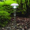 3 White Light LEDs Stainless Steel Solar Lawn Lamp Outdoor Pathway Garden Yard photo