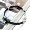 Stylish Leather Braided Link Bracelet For Men deal