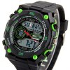 OHSEN AD2812 Male Military Sports Watch Waterproof Digital LED Wristwatch Dual Display Alarm Chronograph deal