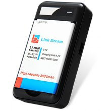 High Capacity 3800mAh Replacement Battery with US Standard Power Adapter Battery Charger for LG G3