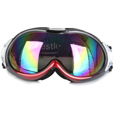 Red Large Size Spherical Snowboard Goggle