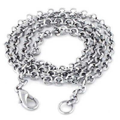 Stylish Chic Solid Color Link Chain Necklace For Men en Gearbest