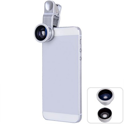 LIEQI LQ011 Fish Eye Wide Angle Macro 3-in-1 Clamp Photo Lens