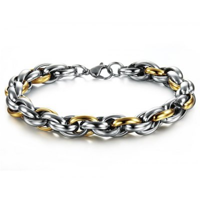 Chic Layered Link Chain Bracelet For Men en Gearbest