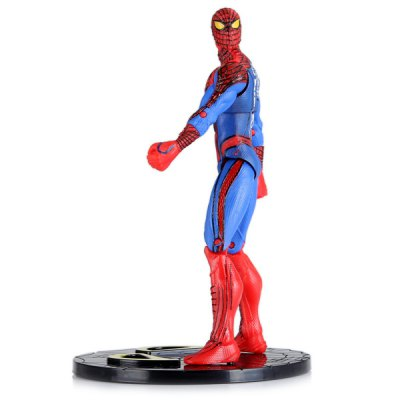 17cm Spiderman PVC Doll Kit Super Hero Animation Character Stand Model Toy Movable Joints Removable Head Hands