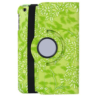 ФОТО 360 Degrees Rotating Stand Design PC and PU Material Cover Case with Grape Texture Pattern for iPad mini