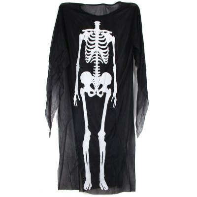 Breathable Halloween Costume Skeleton Ghost Clothes Prom Party Supplies Carnival Christmas ToysClassic Toys<br>Breathable Halloween Costume Skeleton Ghost Clothes Prom Party Supplies Carnival Christmas Toys<br><br>Type: Cosplay Toy<br>Feature: Skeleton Pattern Design<br>Material: Fabric<br>Available Color: Black<br>Product Weight   : 0.103 kg<br>Package Weight   : 0.160 kg<br>Package Size (L x W x H)  : 30 x 24 x 3 cm<br>Package Contents: 1 x  Clothes