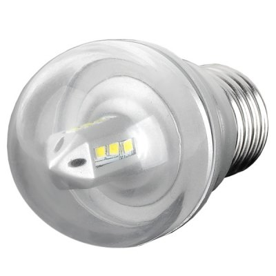 E27 3W SMD - 2835 Energy Saving White Light Silver 12 - LED Bulb Lamp  -  6000K 240LM AC - 24220V