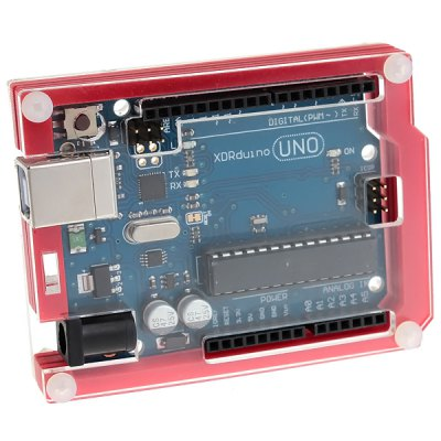 Protective 6 - Layer Acrylic Case Enclosure Box Works with Official Arduino UNO R3