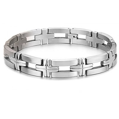 Chic Cross Link Bracelet For Men en Gearbest