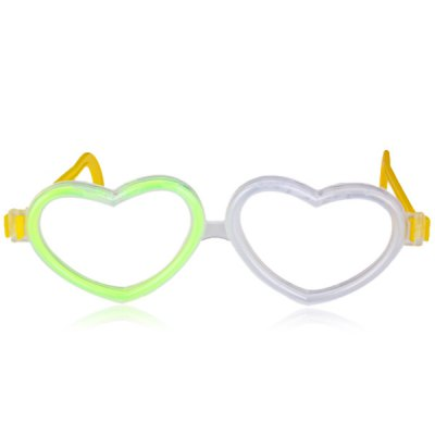 Party Ornament Christmas Decoration Heart Shaped Glowing GlassesHome Gadgets<br>Party Ornament Christmas Decoration Heart Shaped Glowing Glasses<br><br>Material: Plastic<br>Functions: Add Party Atmosphere<br>For: Brothers, Sisters, Kids, Friends<br>Usage: Christmas, Gift, Party, Birthday<br>Product weight: 18 g<br>Package weight : 0.07 kg<br>Product size (L x W x H) : 16.5 x 12 cm / 6.5 x 4.7 inches<br>Package size (L x W x H): 27 x 9.5 x 1 cm<br>Package Contents: 1 x Glasses, 2 x Glow Sticks