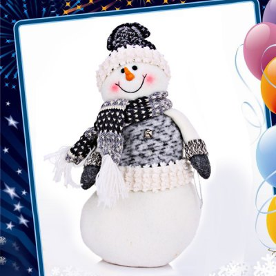 Snowman with Hat Scarf