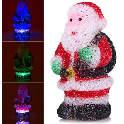 Cute Santa Claus with Changing Color Light Christmas Decoration en Gearbest