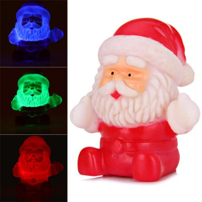 Santa Claus Christmas Decoration with Changing Light Color en Gearbest