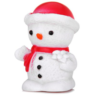 Cute Snowman Wearing Red Hat with Changing Color Light Christmas Decoration от GearBest.com INT
