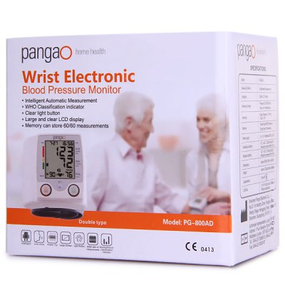 PANGAO PG - 800A Wrist Style Adjustable Cuff Electronic Blood Pressure Monitor  -  2 x AAA Battrey от GearBest.com INT
