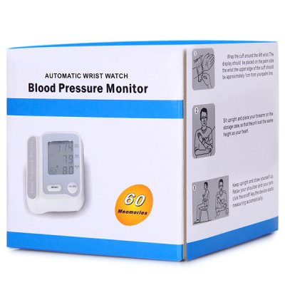 CK - W118 Wrist Style Adjustable Cuff Electronic Blood Pressure Monitor  -  2 x AAA Battrey от GearBest.com INT