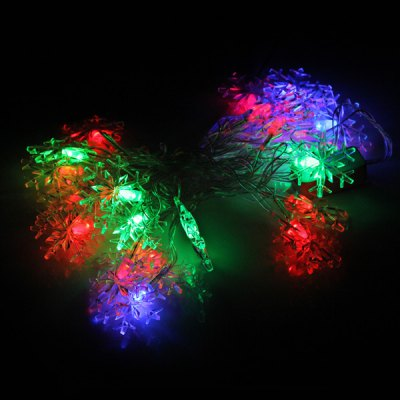 4M 28-LED 220V Snowflake Shaped RGB String Fairy Light