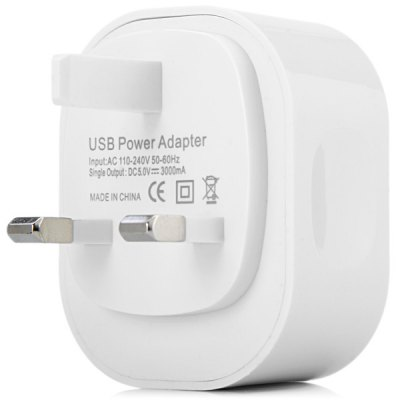 Practical UK Standard Double USB Ports Charger Power Adapter
