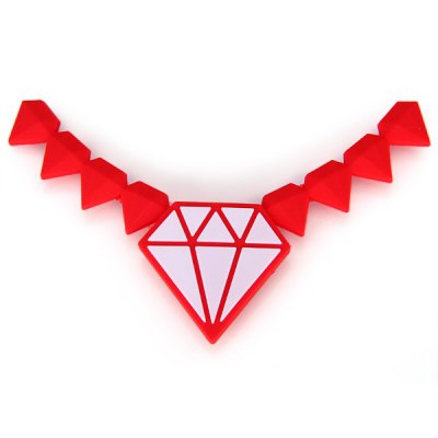 Diamond Shape Necklace Cord Cable Winder for EarphoneHome Gadgets<br>Diamond Shape Necklace Cord Cable Winder for Earphone<br><br>Type: Practical, Decoration, Fashion<br>For: All<br>Material: Plastic<br>Occasion: Outdoor, Home, School<br>Color: Red<br>Product weight   : 7 g<br>Package weight   : 0.056 kg<br>Product size (L x W x H)   : 10 x 3.5 cm / 4.0 x 1.4 inches<br>Package size (L x W x H)  : 13.2 x 11 x 1 cm<br>Package contents: 1 x  Earphone Cord Controller