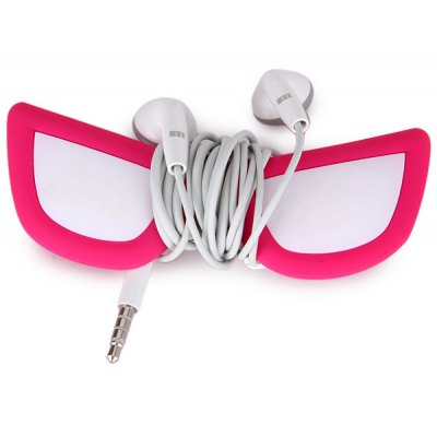 Earphone Cord Cable Winder Glasses Shape Necklace