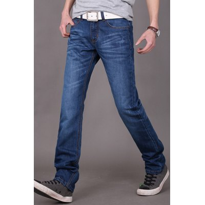 Slimming Trendy Mid-Waisted Cats Whisker Design Straight Leg Denim Pants For MenMens Pants<br>Slimming Trendy Mid-Waisted Cats Whisker Design Straight Leg Denim Pants For Men<br><br>Material: Jeans, Cotton<br>Pant Length: Long Pants<br>Fabric Type: Denim<br>Wash: Light<br>Fit Type: Regular<br>Waist Type: Mid<br>Closure Type: Zipper Fly<br>Weight: 1KG<br>Pant Style: Straight<br>Package Contents: 1 x Denim Pants