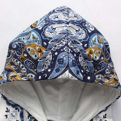 ФОТО Ethnic Style Hooded Slimming Colorful Personality Print Long Sleeves Men