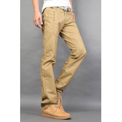 Casual Style Zipper Fly Straight Leg Slimming Button Embellished Solid Color Mens Cotton Blend PantsMens Pants<br>Casual Style Zipper Fly Straight Leg Slimming Button Embellished Solid Color Mens Cotton Blend Pants<br><br>Style: Casual<br>Material: Cotton, Polyester<br>Fit Type: Regular<br>Waist Type: Mid<br>Closure Type: Zipper Fly<br>Front Style: Flat<br>Weight: 1KG<br>Pant Length: Long Pants<br>Pant Style: Straight<br>Package Contents: 1 x Pants