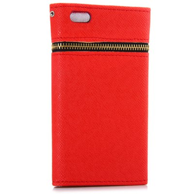 ФОТО Zipper Design Artificial Leather and Plastic Material Cover Case with Card Holder for iPhone 6 4.7 inch Screen