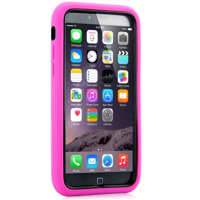 ФОТО Silicone and Plastic Material Diamante Prismatic Checkered Back Cover Case with Bracket for iPhone 6 4.7 inch Screen