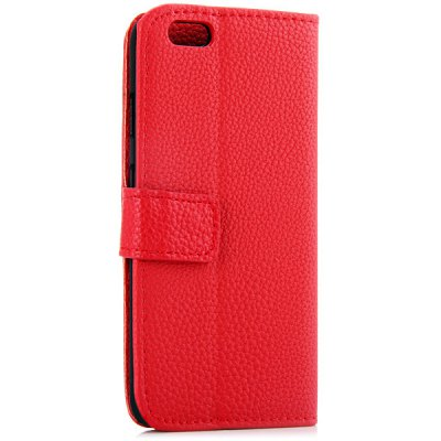 ФОТО Artificial Leather and Plastic Material Litchi Texture Design Cover Case with Card Holder and Stand for iPhone 6 4.7 inch Screen