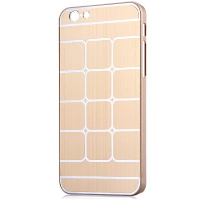 Fashionable Plastic Material Back Cover Case with Grid Design for iPhone 6 4.7 inch Screen