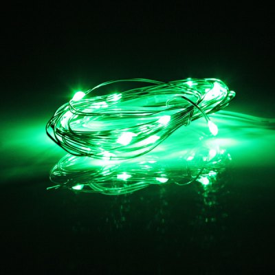 Fashionable Design 2M 20 x LED Green Light Christmas Battery Operated String Light  -  4.5V