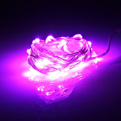 30 - LED 4.5V Red Light Battery Operated Fairy String Light Christmas Light for Party  -  Silver 3 Meters