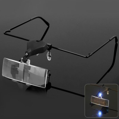 9157-3 Glassess Magnifier with LED Lamp