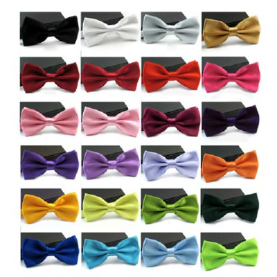 Casual Candy Color Bow Tie For Men