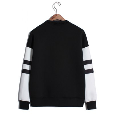 Гаджет   Euramerican Style Long Sleeves Round Neck Personality Inverse Paris Tower and Letters Print Men