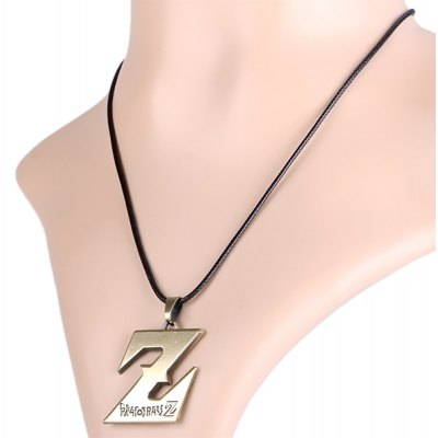 Charming Dragon Ball Pendant Letter Z Shaped Necklace