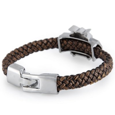 Stylish Attack on Titan Bracelet with Leather Material