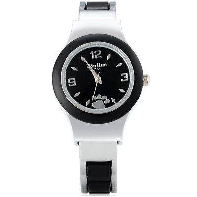 Xinhua 741 Women Quartz Bracelet Watch Round Dial Steel StrapWomens Watches<br>Xinhua 741 Women Quartz Bracelet Watch Round Dial Steel Strap<br><br>Watches categories: Female table<br>Available color: Pink, Black, White<br>Style : Fashion&amp;Casual<br>Movement type: Quartz watch<br>Shape of the dial: Round<br>Display type: Pointer<br>Case material: Stainless steel<br>Band material: Plastic and steel<br>Clasp type: Conjoined clasp<br>The dial thickness: 0.8 cm / 0.3 inches<br>The dial diameter: 2.9 cm / 1.1 inches<br>The band width: 1.1 cm / 0.4 inches<br>Product weight: 0.042 kg<br>Product size (L x W x H) : 6 x 5.5 x 0.8 cm / 2.4 x 2.2 x 0.3 inches<br>Package contents: 1 x Watch