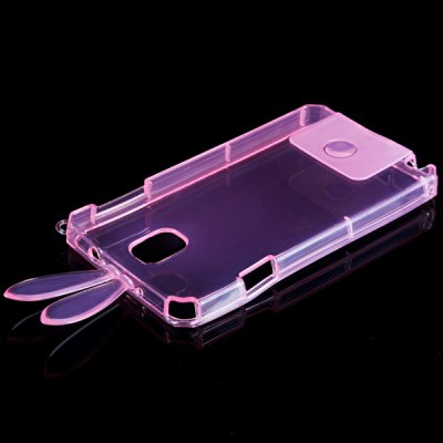 ФОТО Protective Cover Case Back Case with Rabbit Ear for Note 3 N9000