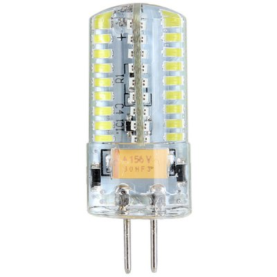 5W 480LM G4 3014 SMD 72 - LED Mini Car Bulb with White Light  -  12 - 24V